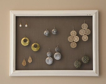 Chalk Paint Earring Holder / Rack