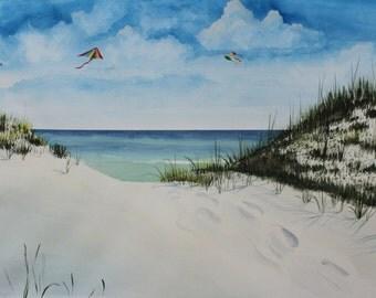 Beyond the Dune-Original Watercolor Print
