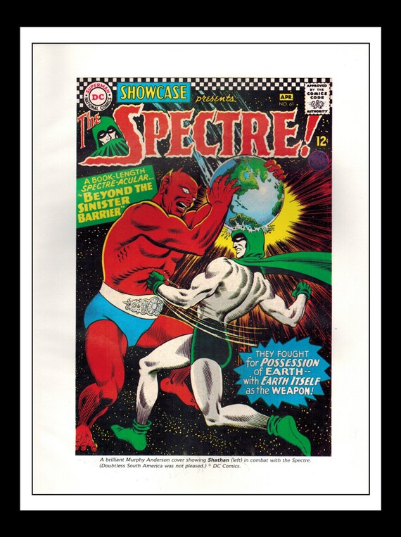 Classic Comic Book Cover Prints : Vintage print ad comic book cover the spectre