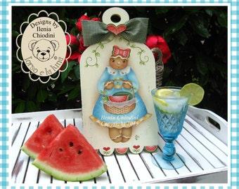 Painting paper pattern Watermelon & gingerbread
