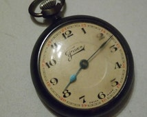 Watch Fides Antique pocket watch vintage pocket watch Fides, 1920s 1930s, Swiss made watch, Swiss watch non functional but fixable
