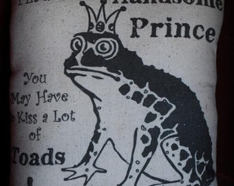 Toad Kiss Prince fairy tale pillow Princess love break up encouragement gift