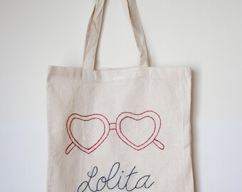 """Tote Bag """"Lolita"""" hand made embrodery"""