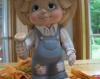 ceramic scarecrow tot trick or treater