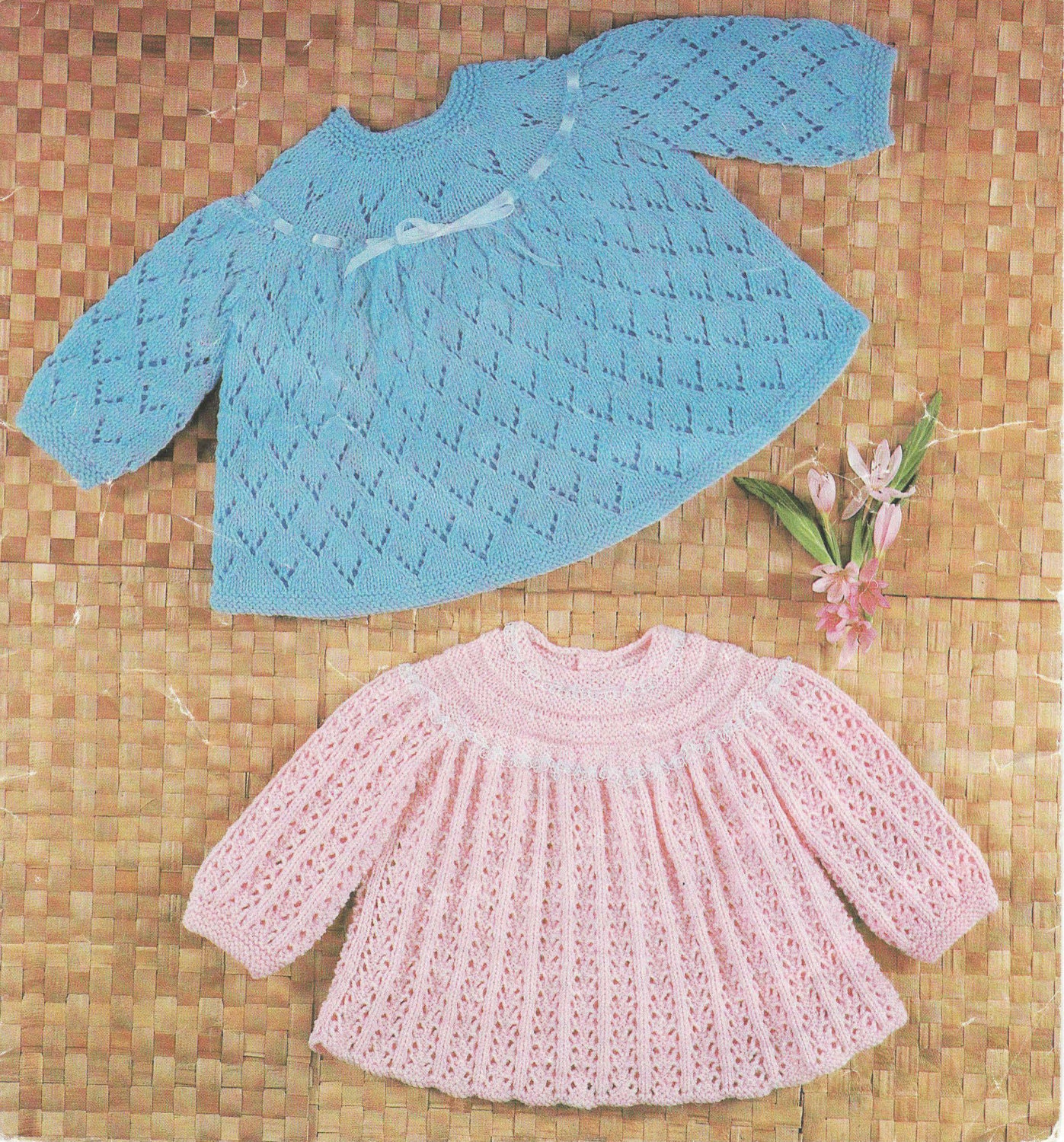 Knitting Pattern Angel Top : Knit Angel Top Vintage Pattern baby dress knitting pullover