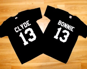 Bonnie and Clyde Shirts, Couple shirts Bonnie and Clyde, Bonnie Shirts - Clyde Shirts Set 13