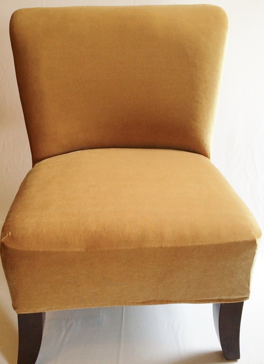 armless accent chair covers images