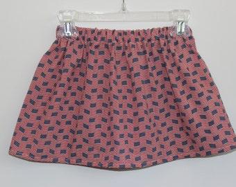 Girls Skirts, American Flag Skirt, Red white and blue Skirt, 4th of July Skirt, Toddler Skirt