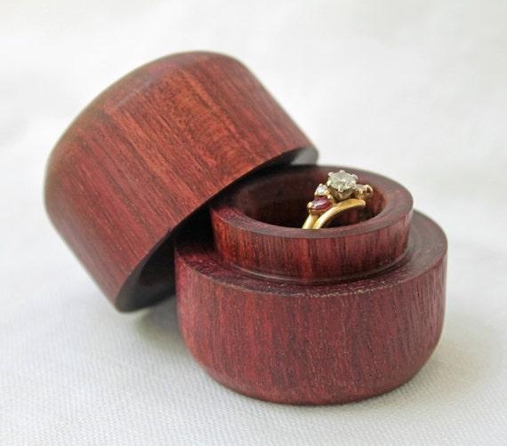Engagement ring box ring box purple heart wood ring box for Heart ring box