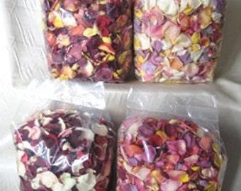 64 Cups Pathway Rose Petals - Eco Friendly Freeze Dried Rose Petals