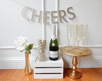 Cheers Banner - Wedding, Bridal Shower, Bachelorette Banner