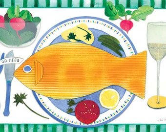 "Go Fish Placemat (12"" x 18"")"