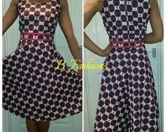 Black/white skater dress. Size 14