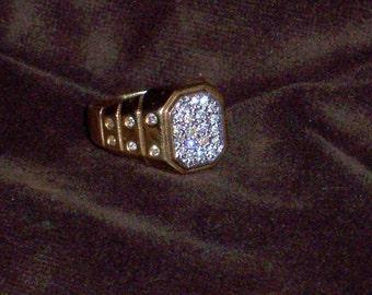MEN'S DIAMOND RING 14K Yellow Gold