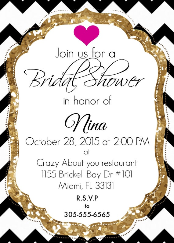 inspired by kate spade bridal shower invitation graduation baby shower