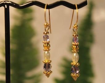 Iridescent Lavender Crystal Drops #1531