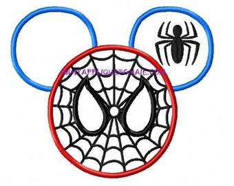 Character Super Hero Spider Design Embroidery Applique Design