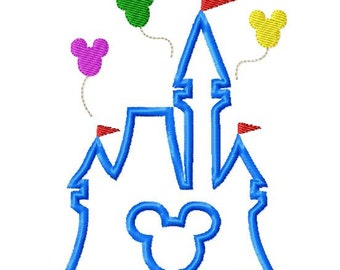 Character Inspired Castle Embroidery Applique Design Instant Download Digital File