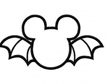 Character Inspired Big Bat Embroidery Applique Design