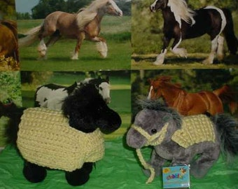 Hand Crocheted Blanket and Halter for Webkinz & TY Horses