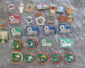 "27 soviet pins ""Fooball"" aluminium. Please, offer your price!"