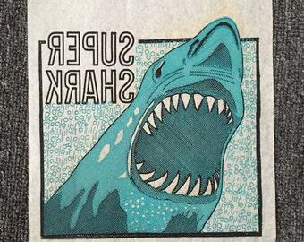 1975 Super Shark Iron On! JAWS! Vintage!