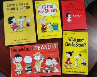 Charlie Brown, Snoopy and the Peanuts Gang books from the 60's