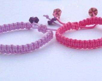 Macramé bracelet, pretty bracelet, macrame gift, gift for kids, gifts for girls, for her, bracelets.