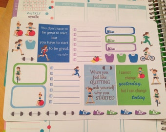 Not so Guilty Pleasures Fitness stickers set -  for your EC,PP, planner