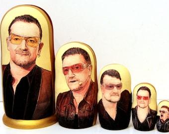 Nesting doll #530 Bono (U2)