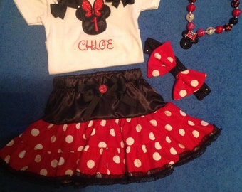 Minnie Mouse outfit birthday