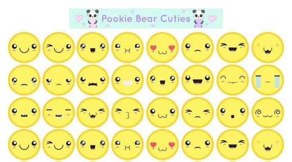 Cute Kawaii Emoji Stickers!,0119