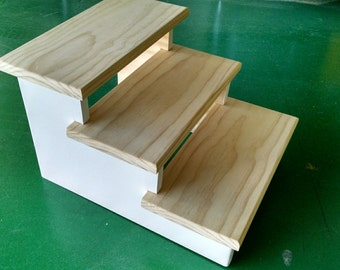 "Pet Stairs to give your dog or cat the extra step they need, wherever they need it, 12"" high."