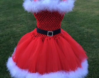 Mrs.Clause  Inspired tutu dress, Halloween tutu costume, Christmas dress