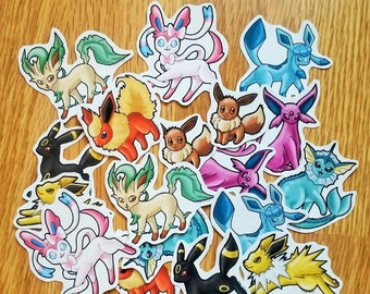 Eeveelution and Shiny Eeveelution Stickers