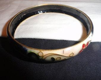 Enamel covered Bangle Bracelet