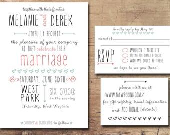 Personalized Unique Wedding Invitations