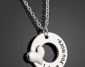 I LOVE YOU MORE Necklace Gift Present Mother's Day Wife Girlfriend Fiance Grandma Daughter Anniversary Birthday Wedding Shower Graduation