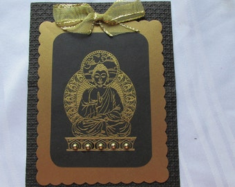 Buddha meditation note card
