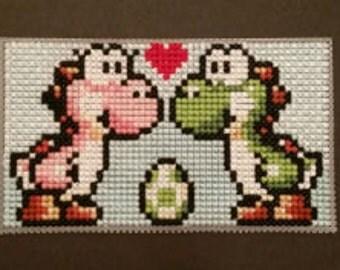 Yoshi In Love Cross Stitch Pattern
