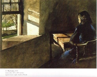 The Letter painted by Andrew Wyeth