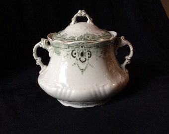 T & R Boote, England/Waterloo Potteries/1890's Sugarbowl/Fine China/English China/Defender Pattern/Collectible English China/Sugarbowl