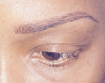 Removable tattoos etsy for Temporary eyebrow tattoos