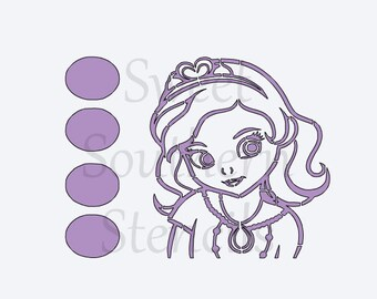 PYO Princess Cookie Stencil