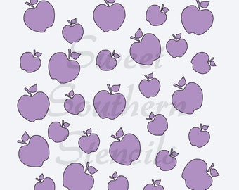 Random Apples Stencil