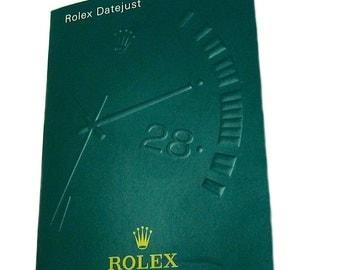 Rolex Datejust Manual Booklet Spanish 2004 Authentic