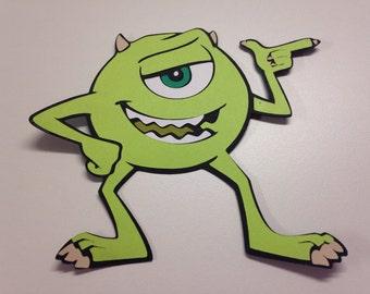 Mike die cut from Monsters Inc
