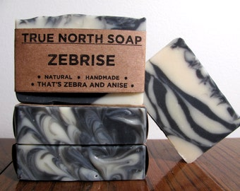 Zebrise - Anise Soap, Cold Processed Soap, All Natural Soap, Handmade Soap, Black Licorice Soap