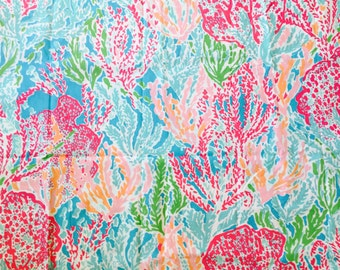 Lilly Pulitzer Fabric LETS go CHA CHA  2014 18x18 or 1 yard