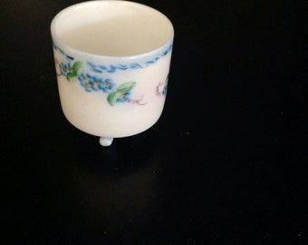 Forget Me Nots Footed Match or Toothpick Holder